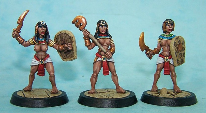 48. Egyptian Female Guards III (Melee Weapons)