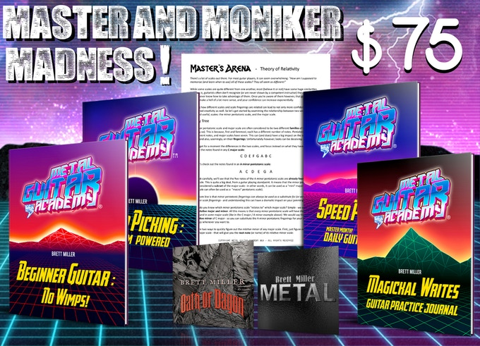 Master and Moniker Madness! - $75