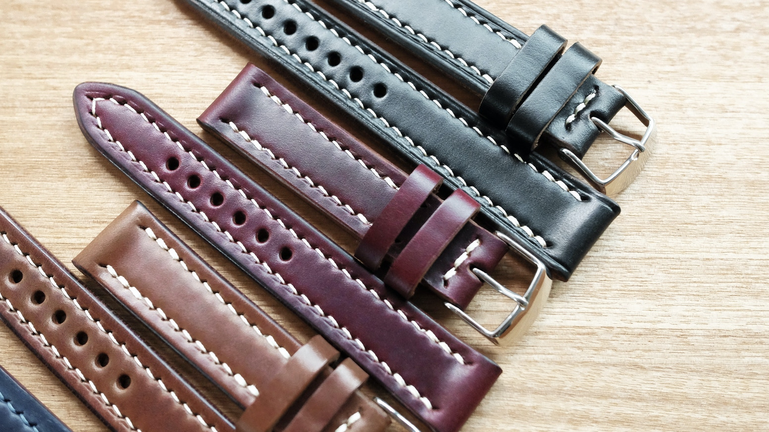Looking for a well made watch strap? Look no further than our hand stitched straps using the World Famous Horween Leather.