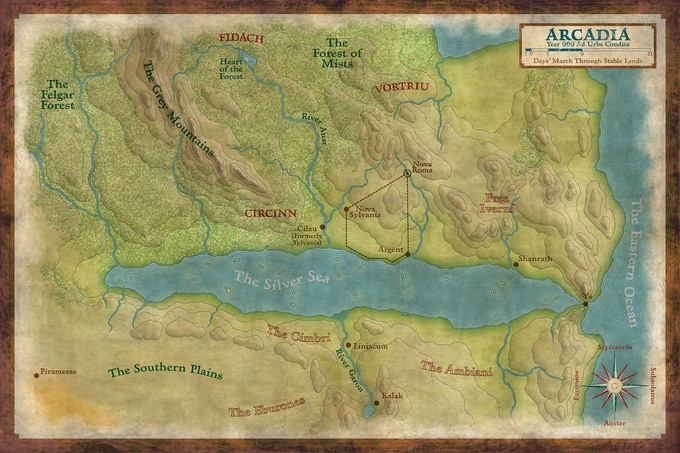 The world of Arcadia, home of the Ninth Legion