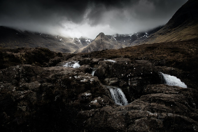Fairy Pools of Skye. Photograph by Tim Archibald