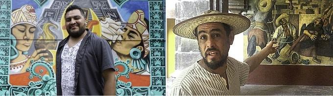 L: Francisco Nadie, Muralist; R: Alberto Aveleyre Rivera, Historian