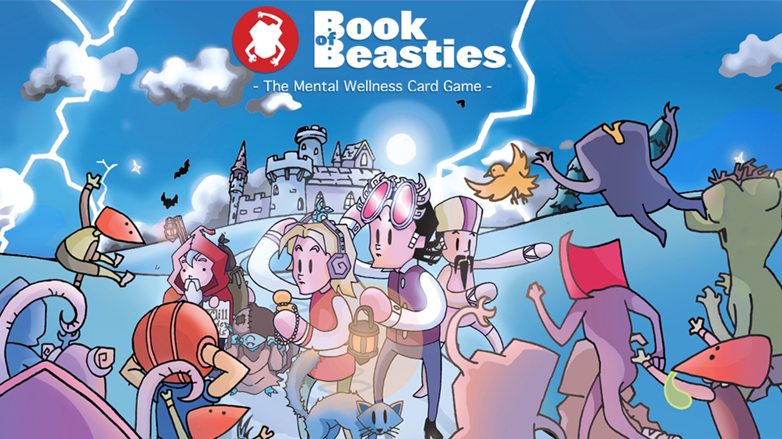 Book of Beasties is a fun and easy to learn card game for children and young people that inspires the discussion about mental wellness.