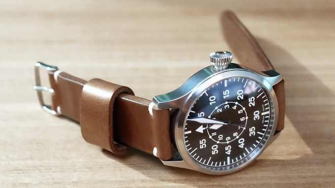 Horween Chromexcel Natural with Side Stitch