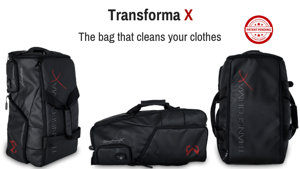 Transforma X: The World's First Self-Cleaning Travel/Gym Bag