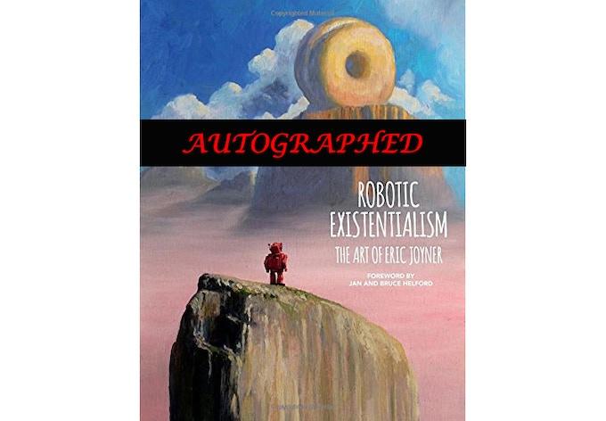 """Robotic Existentialism"" signed art book"