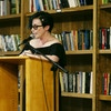 Fran Wilde at Kickstarter's Summer of Poetry reading event. Photo by Lauren Renner.