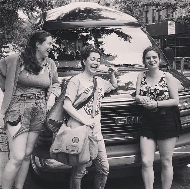 (left to right) Lily, Maridee, Ilana (back) Roger