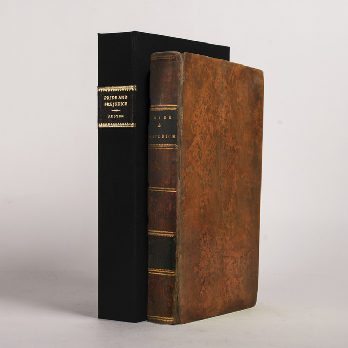 PRIDE AND PREJUDICE bound as a facsimile of the first edition, in speckled full-calf.  This is an example of what the book will aim to resemble.