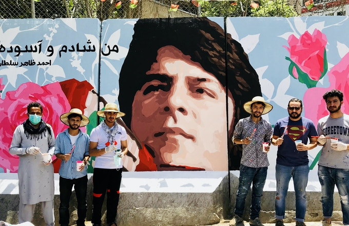 We teamed up with Art Lords after seeing this amazing mural they made in Kabul on Ahmad Zahir's annivesary... the poster print you receive for $65+ is made by an Afghan artist in the Art Lords collective, and is inspired by this!