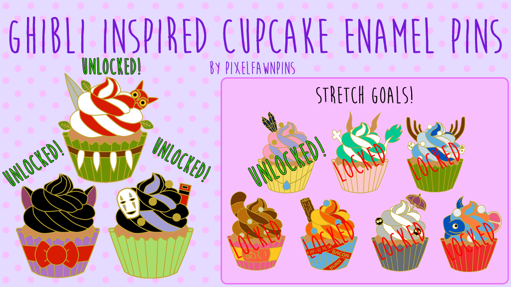 Ghibli Inspired Hard Enamel Cupcake Pins is the top crowdfunding project launched today. Ghibli Inspired Hard Enamel Cupcake Pins raised over $913 from 0 backers. Other top projects include SOCCERCLUBUK Christmas Special, Baby/ Kids / Children's Wear Apparel Line - Organic Clothing, ...
