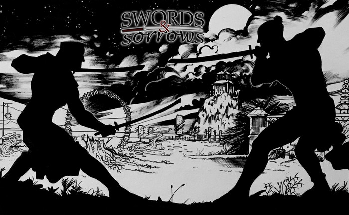 Swords & Sorrows is a tale of personal upheaval when a killer finds he must kill the master who raised him to achieve a peaceful life. But soon he will realize that he isn't the only assassin with sorrow.