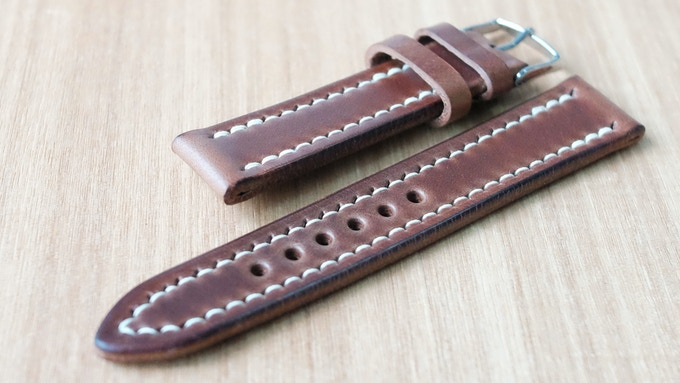 Horween Chromexcel Natural with Full Stitch