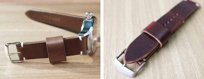 Shiny Buckle (Left), Matte Buckle (Right)
