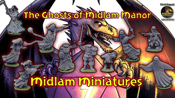 Midlam Miniatures are pleased to present a collection of nine 28mm scale ghost miniatures for use in all of your fantasy games.