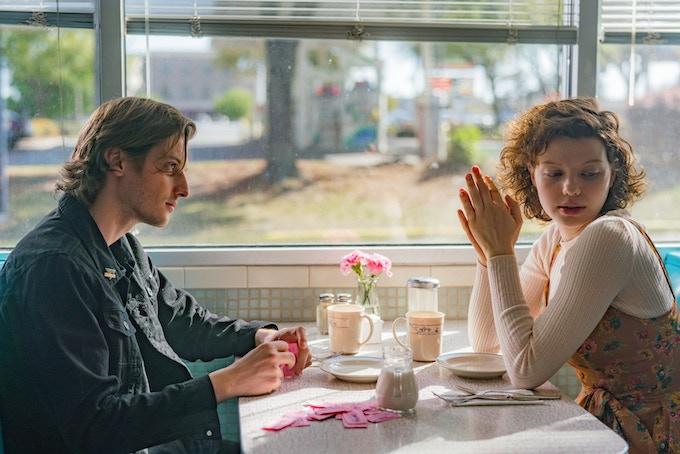 Lead actors Peter Vack and Chloë Levine on set of ALASKA flashbacks scene in Savannah, GA