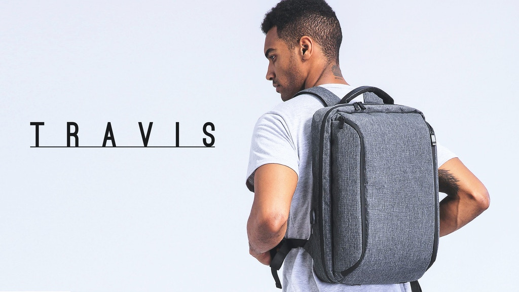 TRAVIS backpack : Unique travel daily anti-theft commute bag project video thumbnail