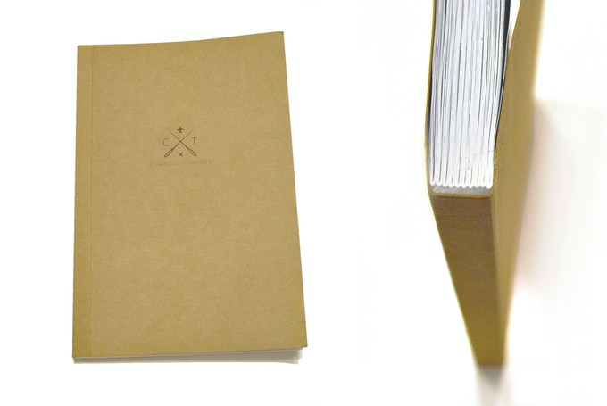The notebook is section stitched for longevity