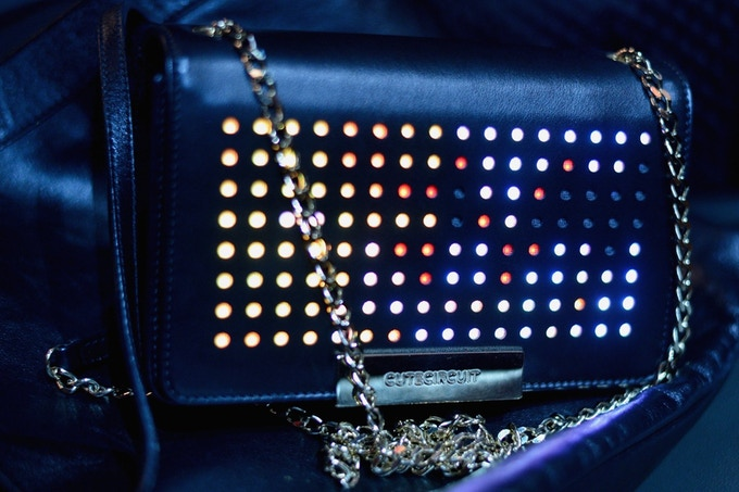 Perforated Leather as LED Pixel Mask can solve light bleed in LED Bag