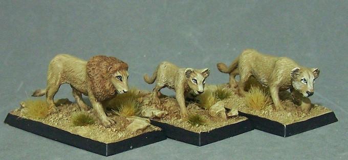 60. Lions (Lion, Juvenile, Lioness) * £6
