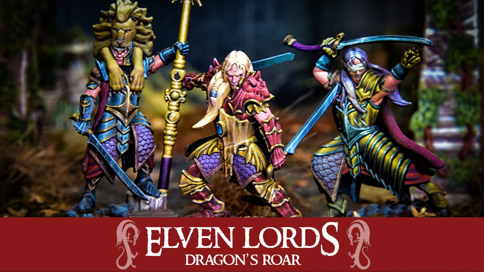 Brand new regiments and characters for our elven 32mm miniatures.