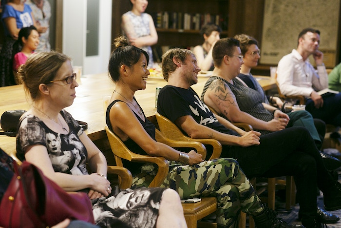 The audience at the Summer of Poetry reading