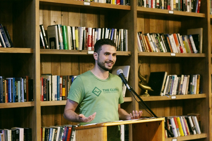 Andrew Nichols at the Summer of Poetry reading
