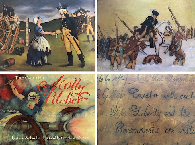 They Called Her Molly Pitcher (Penguin Random House) original art by Cynthia von Buhler.