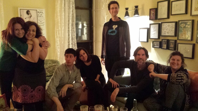 Our game testers from the very first Ate the Game night!