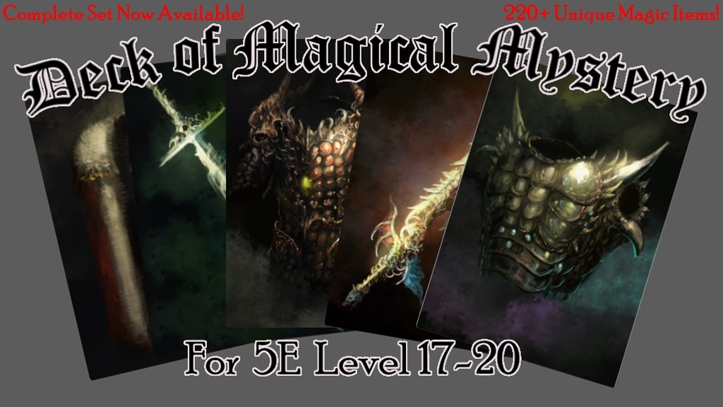 Deck of Magical Mystery: Tier 4, 5E Compatible project video thumbnail
