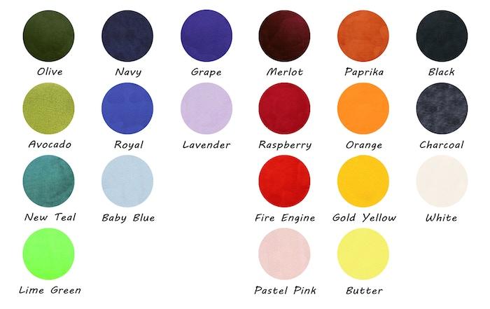 Colour chart for comparison.