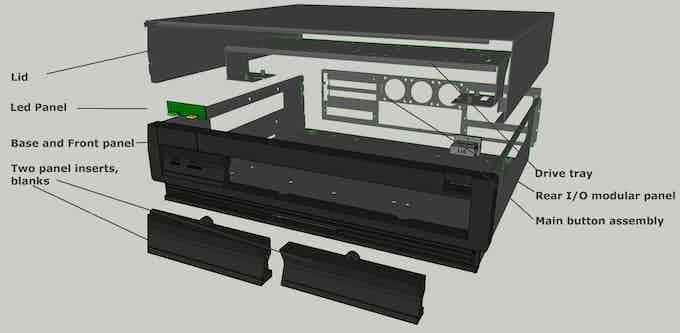 PC version basic case, this version shows horizontal card bays.