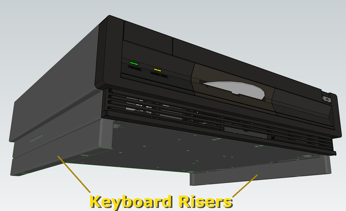 Amiga 1000 garage inspired Keyboard risers