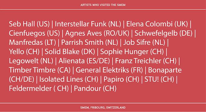Artists who visited the smem
