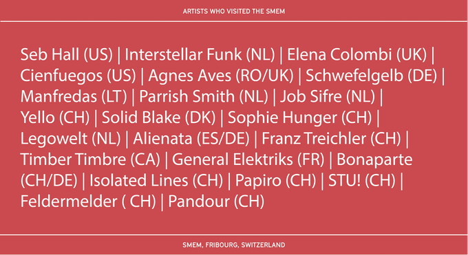 Artists who visited the smem