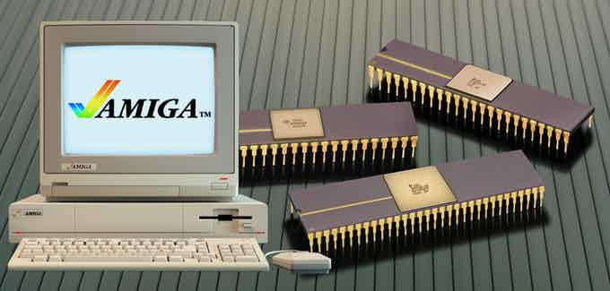 Amiga 1000 and the ground breaking support chip set