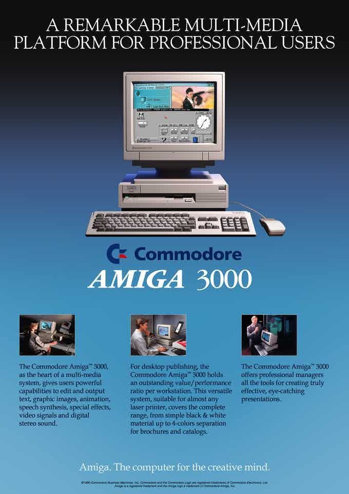 A3000 the first Amiga Workstation