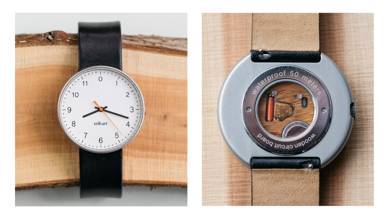 The Watch With Worlds First Wooden Circuit Board By Telhart Boards Like Magic Appears