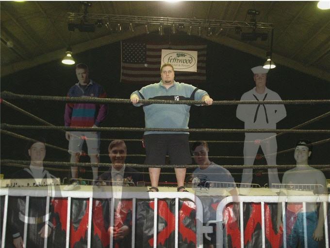 This picture of me in a wrestling ring was taken in 2004, not long after my father died. The other images are all me at different points in my young adult years, prior to everything falling apart.