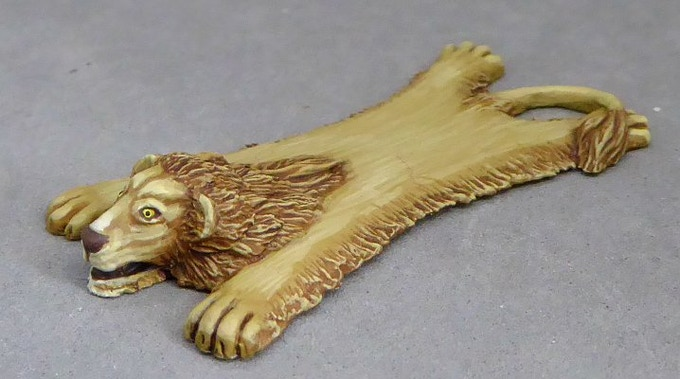 £3000 Lion Skin. Sculpted by Andy Pieper.  UNLOCKED!  Now available as an add-on for £1.75.