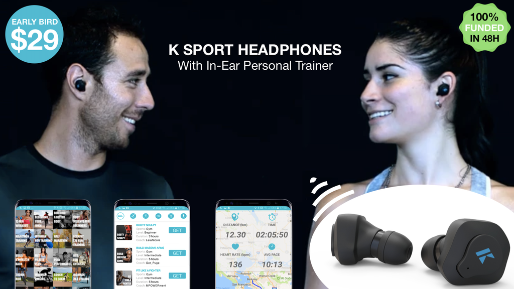 K Sport Headphones With In-Ear Personal Trainer project video thumbnail
