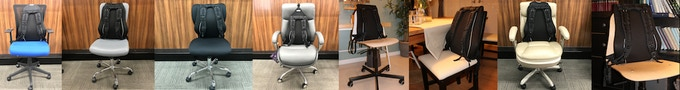 Tested on over 20+ office chairs + 2 dining room chairs. Here are a few of them.