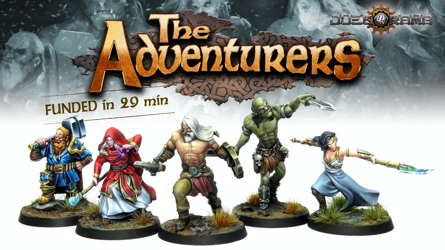 "Juegorama Presents:""The adventurers""High-Quality Fantasy Resin Miniatures for Role Playing systems,dungeon crawlers or painters."