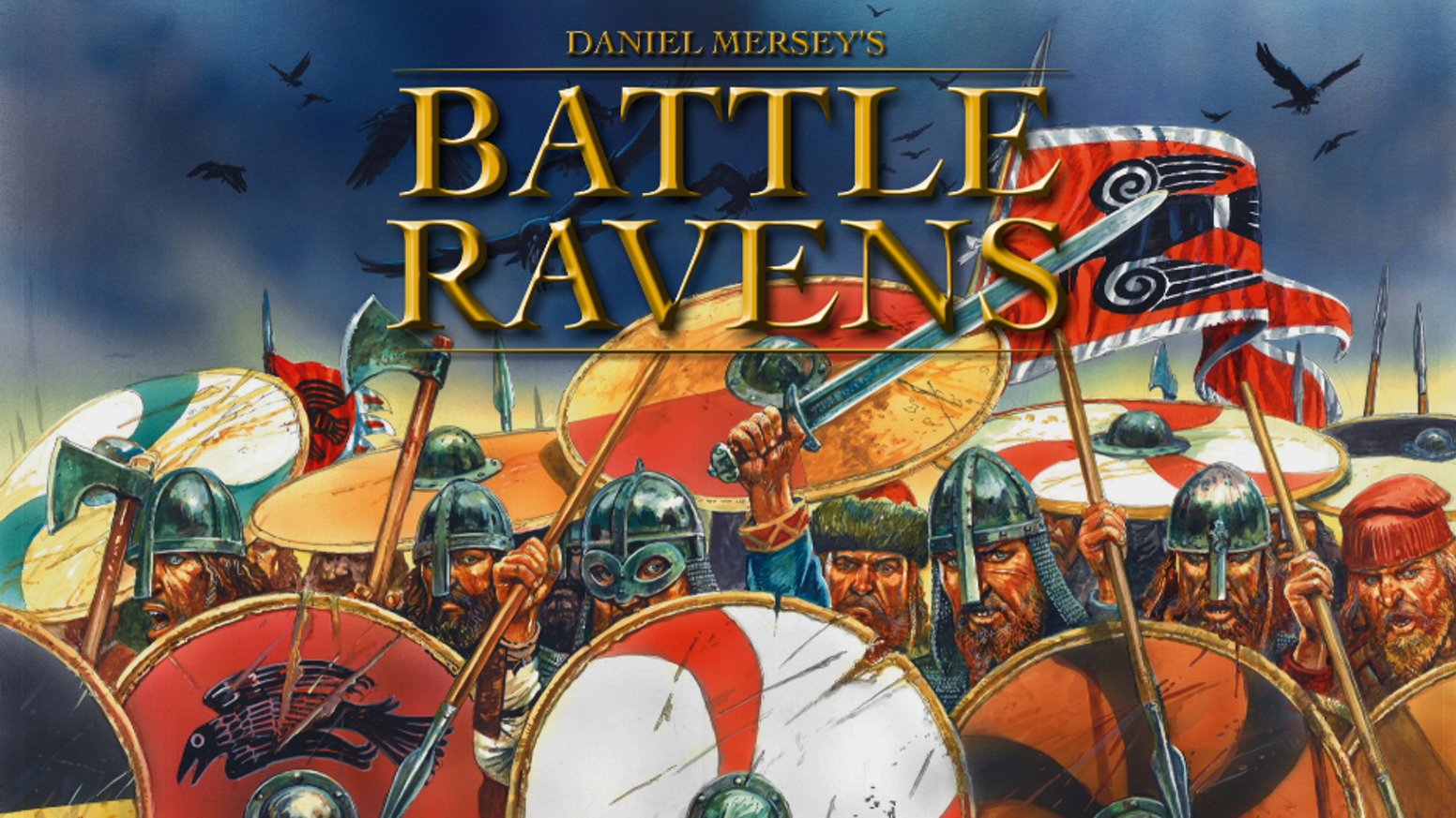 Battle Ravens is a game of Viking Age shieldwall warfare, designed by Daniel Mersey and illustrated by Peter Dennis!