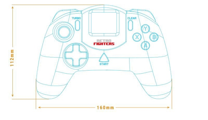 Draft Drawing Next Gen Sega Dreamcast Controller