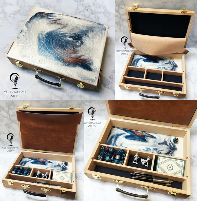 Explorer Chest featuring the Medusa acrylic pour color