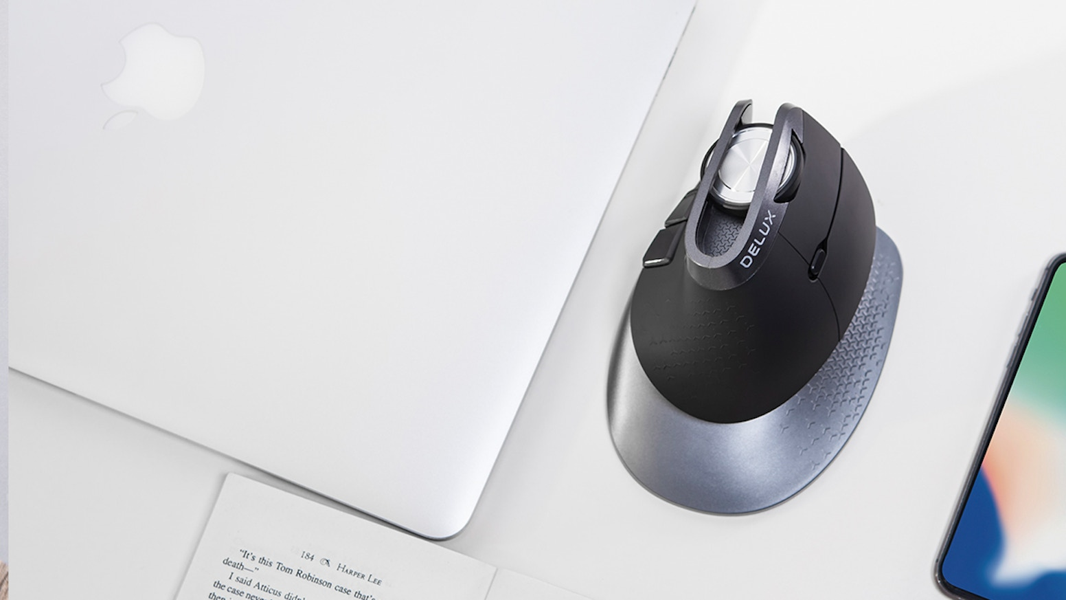 The most ergonomic vertical mouse with adjustable angles to support your wrist and hand.