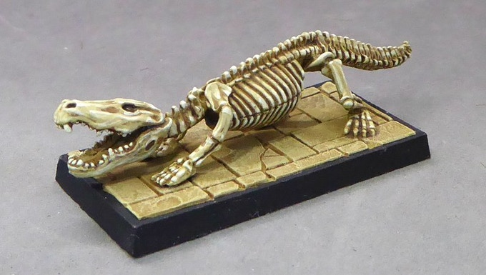 £4000 Skeletal Crocodile.  Sculpted by Tim Prow.  UNLOCKED!  Now available as an add-on for £6.