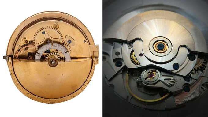 Initial Rotor in 1777 (Left) / Design of Rotor nowadays (Right)