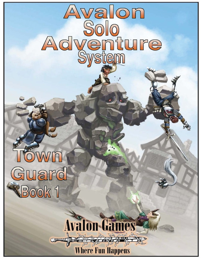 Avalon's Solo Adventure system, by Robert Hemminger